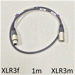 1m Standard XLR Mic Cable