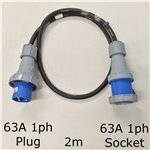 2m 63A 1ph Cable