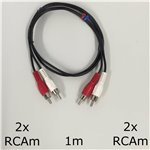 1m 2x RCA male to 2x RCA male Cable