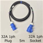 5m 32A 1ph Cable
